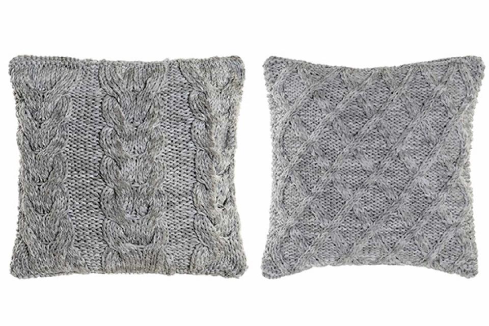 Pleteni jastuk grey 45x45 2 modela