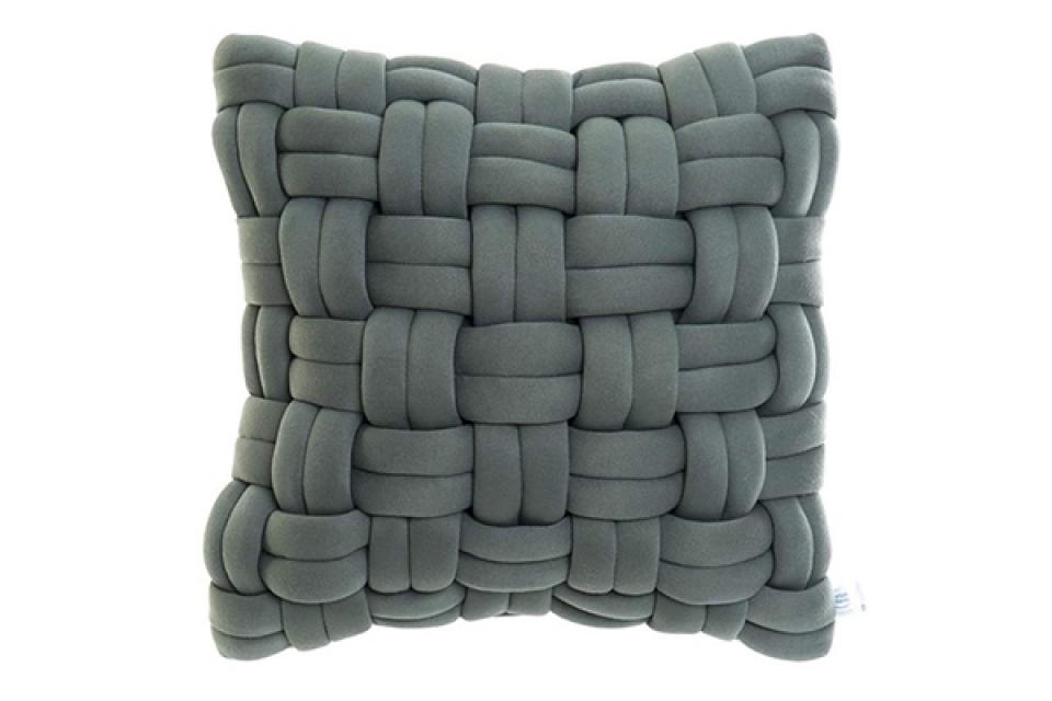 Pleteni jastuk turquoise 45x46