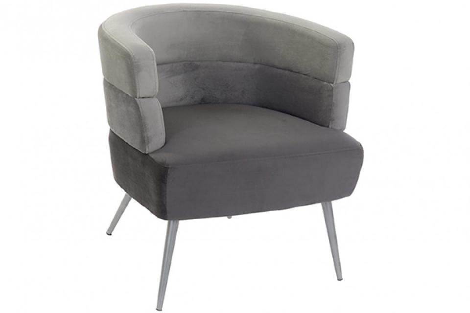 Plišana fotelja grey 70x63x69