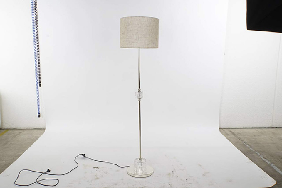 Podna lampa  transparent 38x38x158