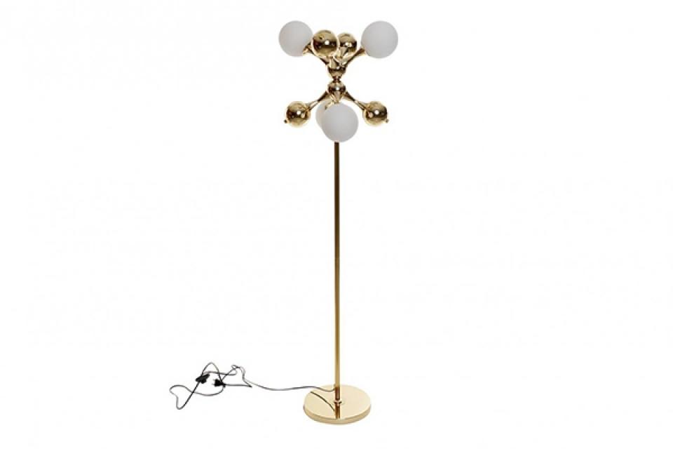 Podna lampa ball golden 40x40x157