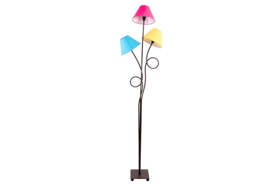 Podna lampa sa tri abažura u bojama  35x25x160