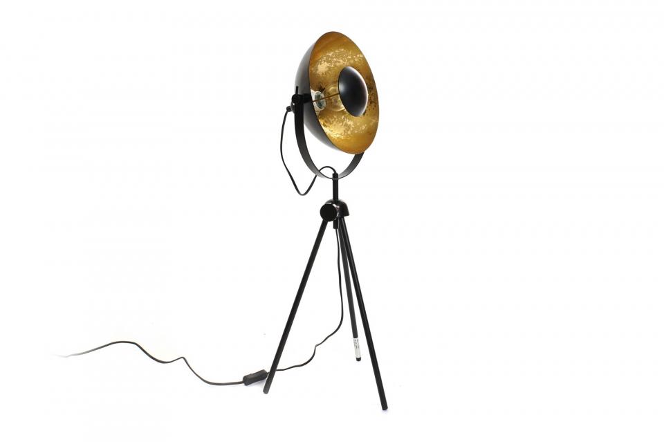 Podna lampatripod golden black 28x30x77 e27