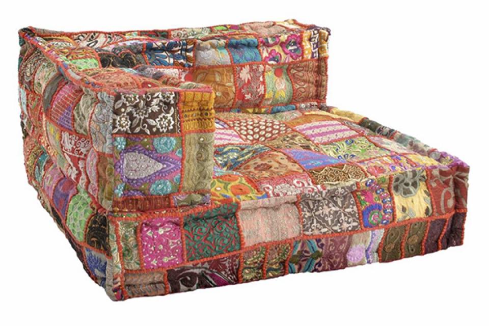Podni jastuk patchwork  80x80x40 17,5 kg
