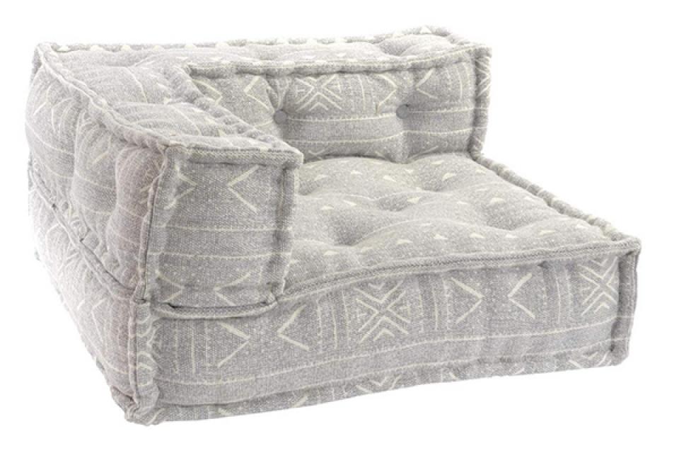 Podni jastuk sivi 80x80x40 17,5 kg