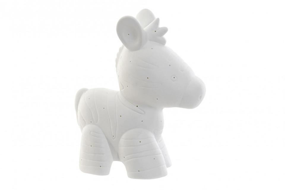 Porcelanska lampa zebra 20x10x23