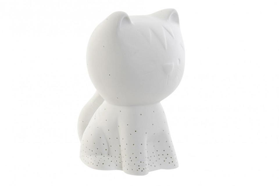 Porcelanska led lampa maca 13,6x17x21