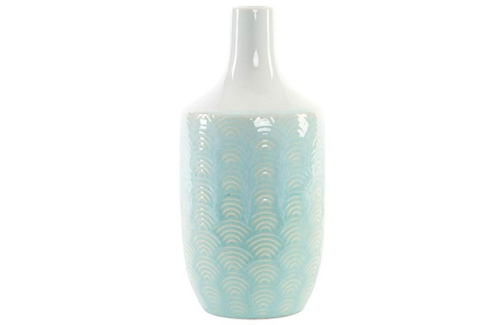 Porcelanska plavo bela vaza 10,5x22