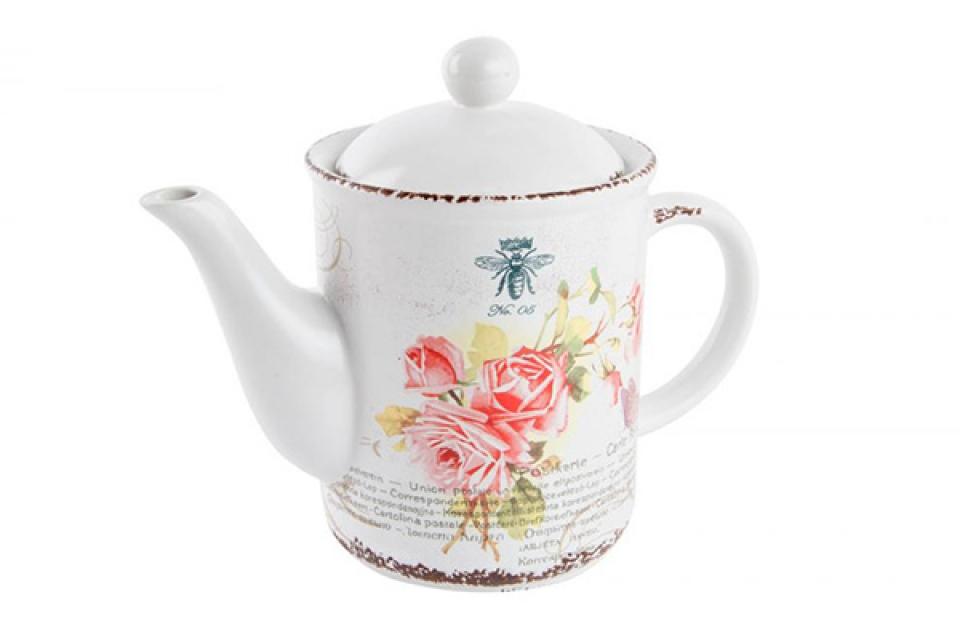 čajnik sa ružicama 22x12x18 keramika