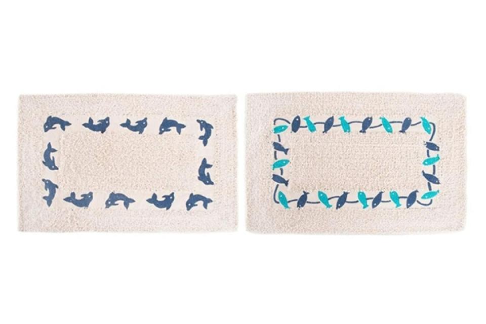 Prostirka za kupatilo sa delfinima i pticama 60x40 3 boje