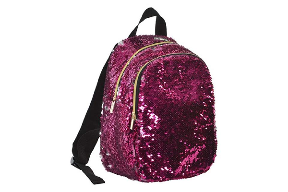 Ranac sparkly pink 23x15x30
