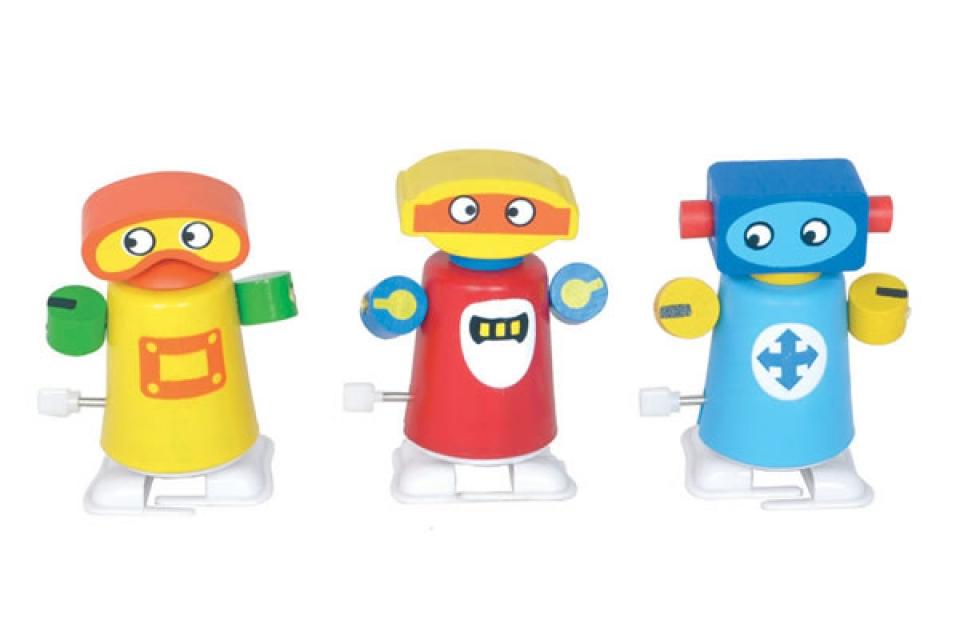 Robot na navijanje u raznim bojama