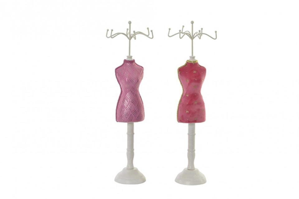Roze držač nakita 12x11x39,5 2 modela