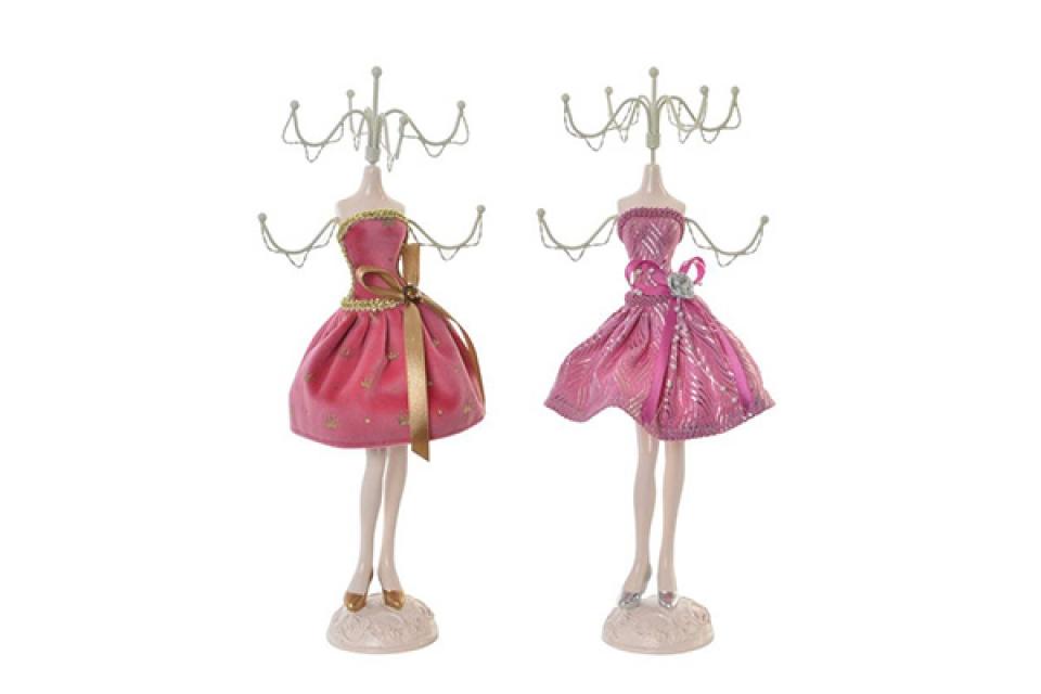 Roze držač nakita 12x7x31 2 modela