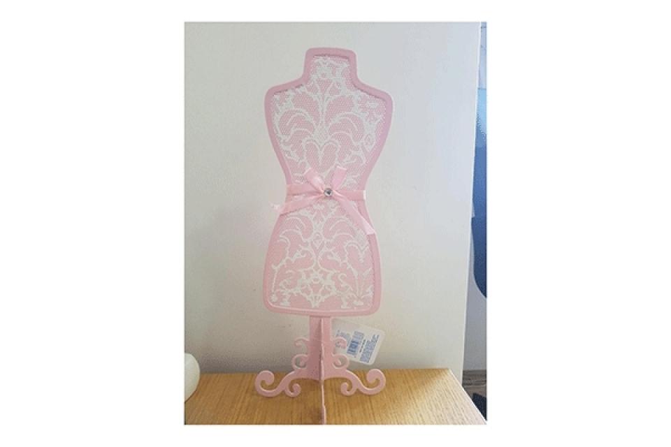 Roze držač za nakit 14x35