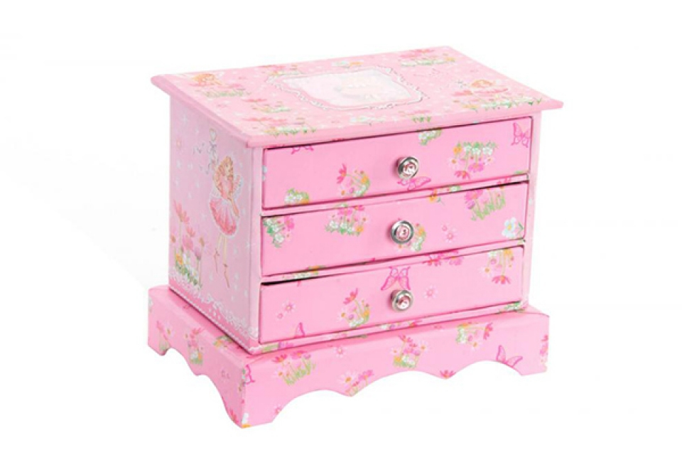 Roze kutija za nakit 17,5x12x14,5