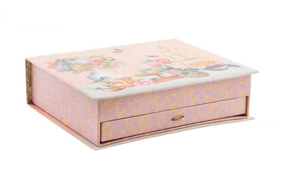 Roze kutija za nakit 25x20x7