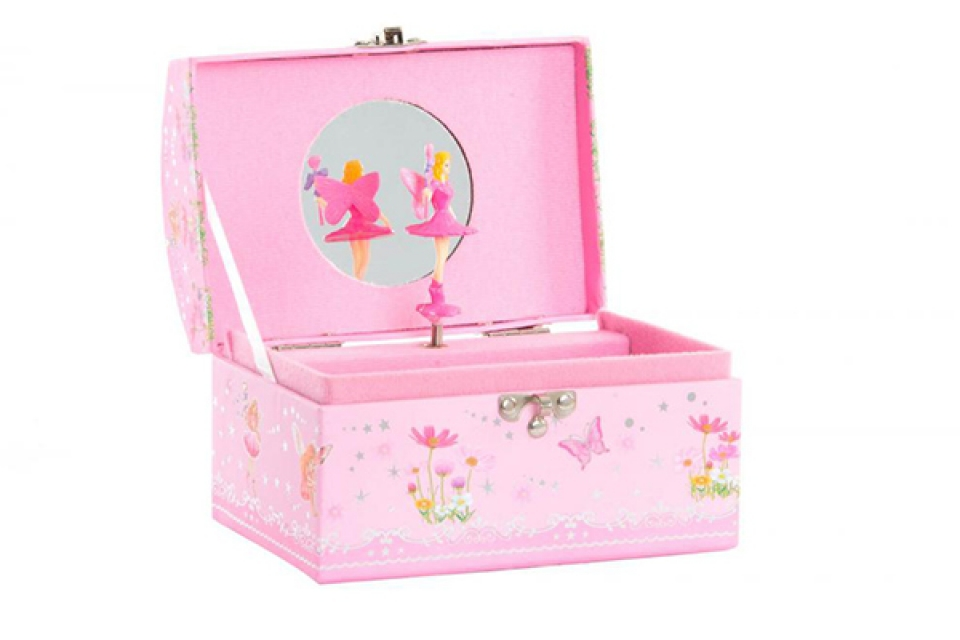 Roze muzička kutija 16x12x10,5