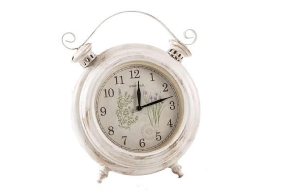 Sat okrugli beli retro