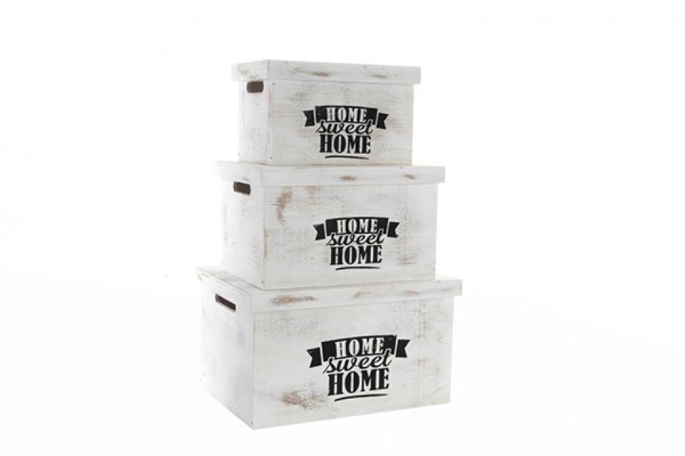 Set belih kutija home 42x31x24
