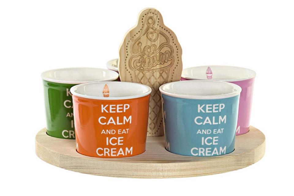 Set čaša ice creams / 6 25x25x6
