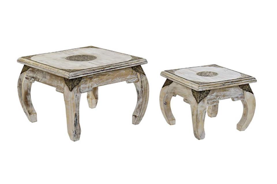 Set četvrtastih stolova / 2 53x53x38 38x38x31