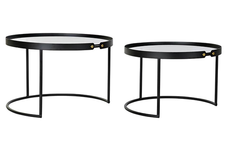 Set crnih stolova / 2 66x66x44