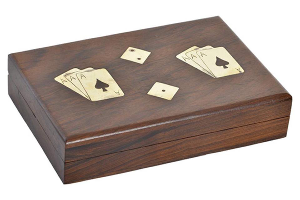 Set društvenih igara karte i jamb / 2 18x11x4,5