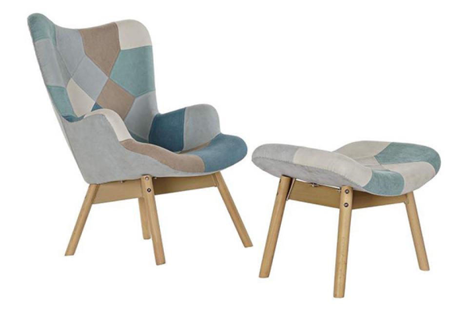 Set fotelja i stolica blue 70x70x95 45 cm