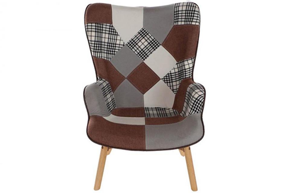 Set fotelja i stolica za noge brown / 2 70x62x99