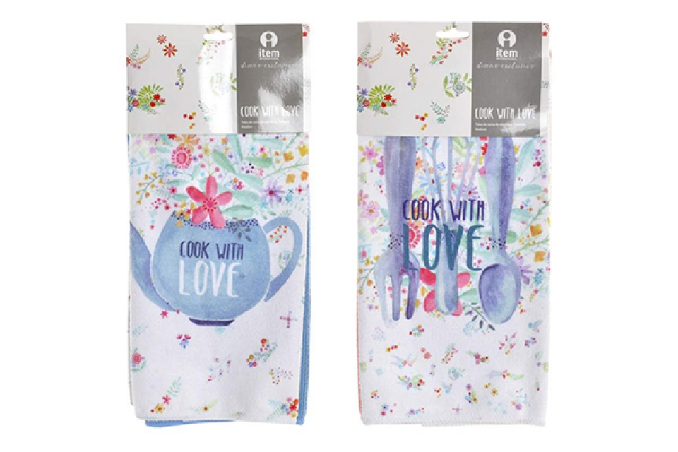 Set krpa cook with love / 2 40x60 2 modela