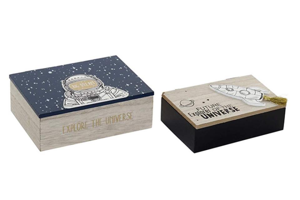 Set kutija astronaut / 2 17x12x6