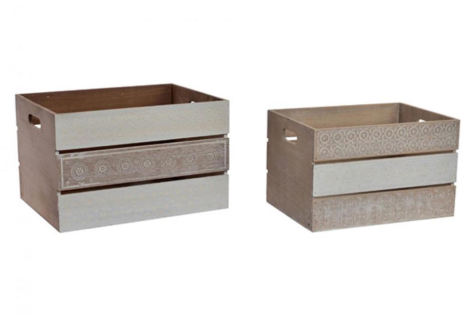 Set kutija boho natural / 2  39,5x30x25,5