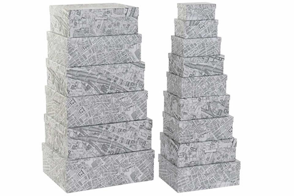 Set kutija cities white / 15  56,5x45x19