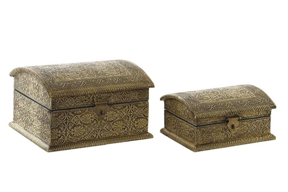 Set kutija golden / 2 25x20x15