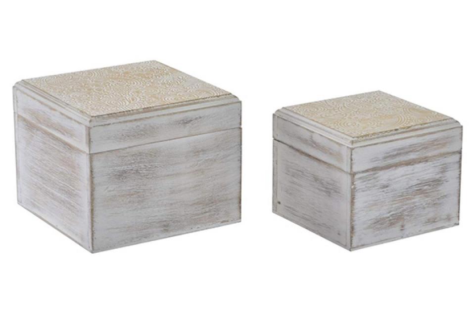 Set kutija golden white / 2 15x15x12