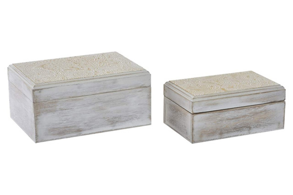 Set kutija golden white / 2 19x13x9