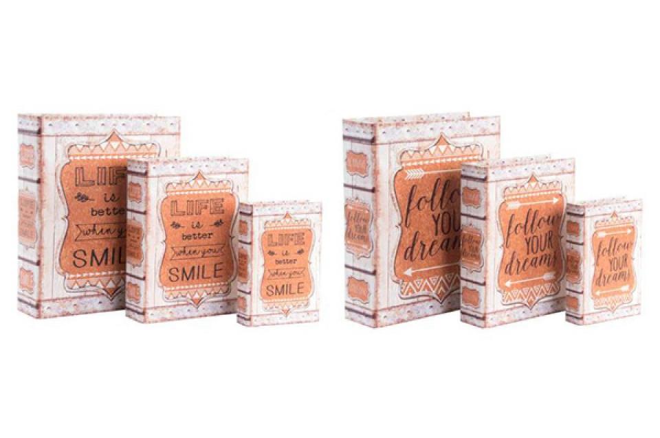 Set kutija knjige smile 30x24x8 2 modela