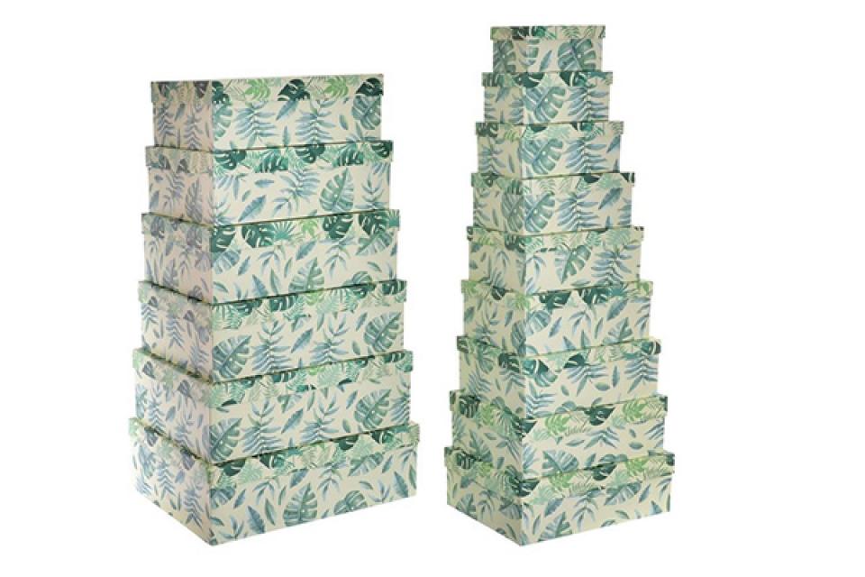 Set kutija lišće / 15 57x45x19