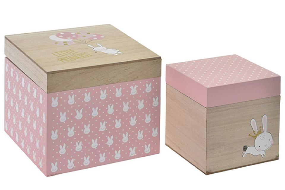 Set kutija little rabbit / 2 18x18x15