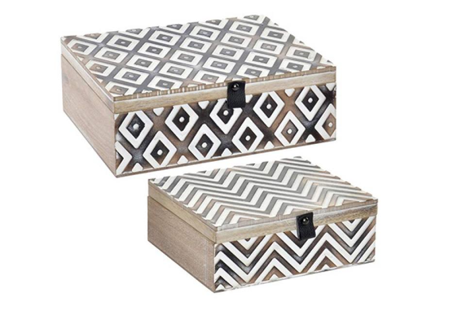Set kutija natral black / 2 25x18x9