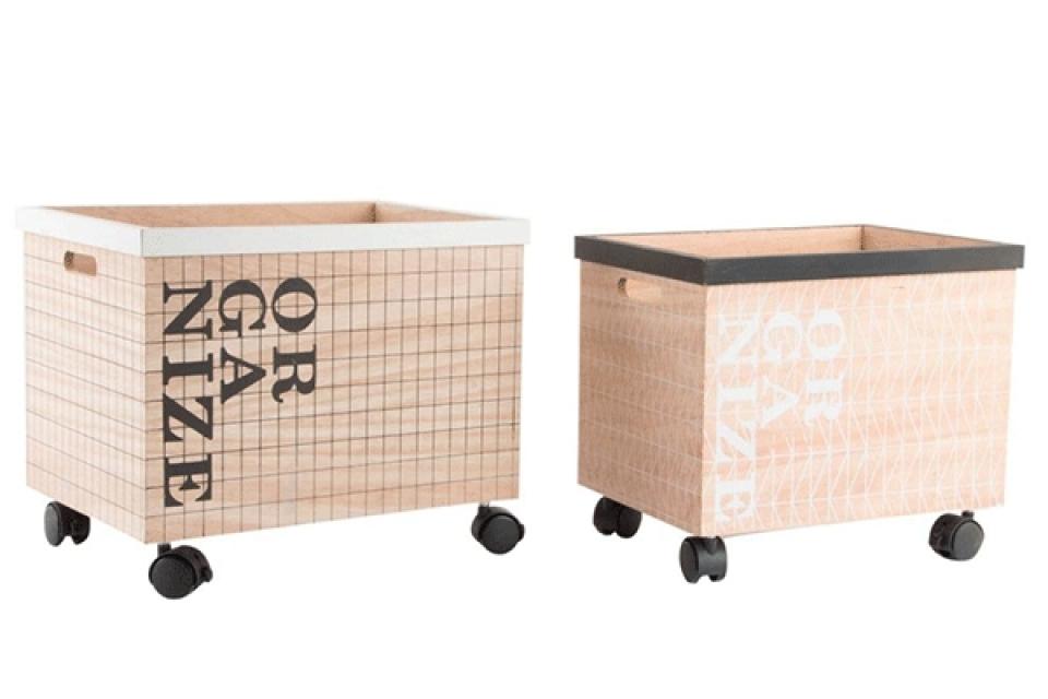 Set kutija sa točkićima 40x30x34