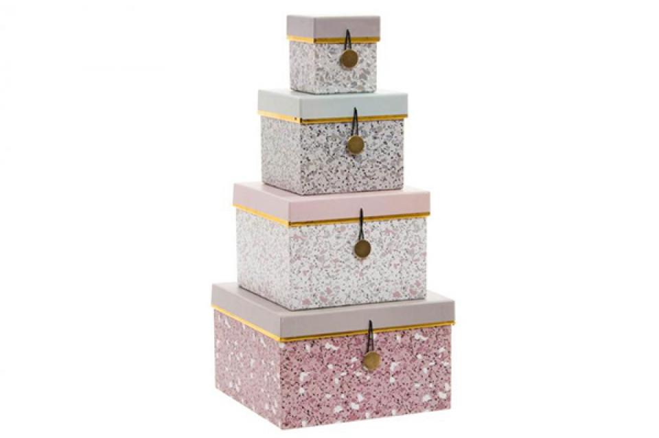 Set kutija terrazo / 4 20x20x12