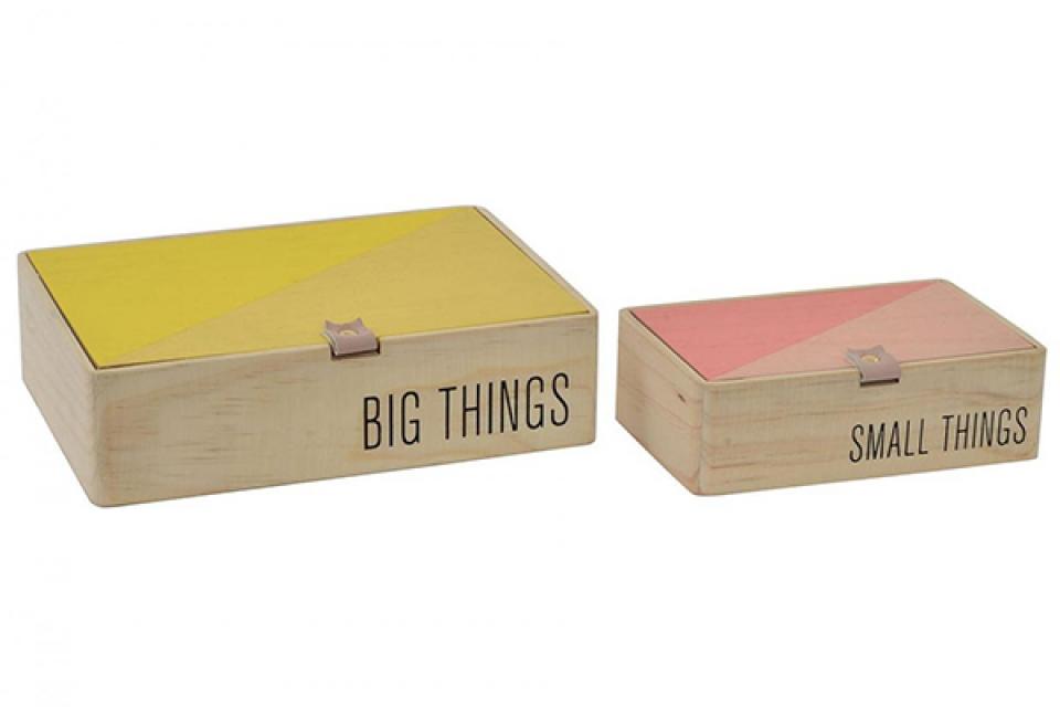 Set kutija tropical natural / 2 22x16x6