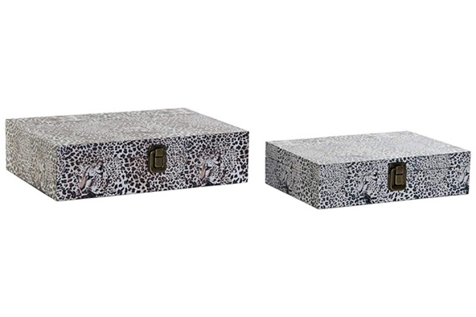 Set kutija z nakit animal white / 2 29,5x22x7,5