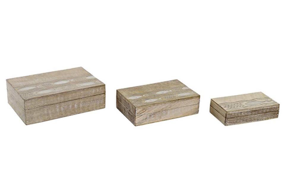 Set kutija z nakit mediteran / 3 25x17x8