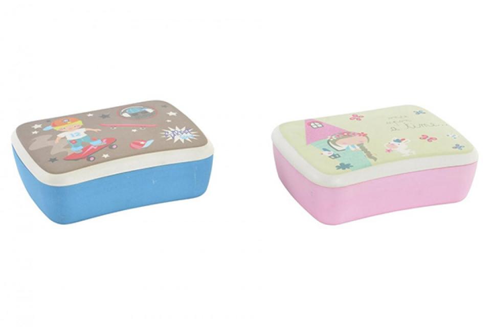 Set kutija za užinu childish / 2 17,5x13x6  2 boje