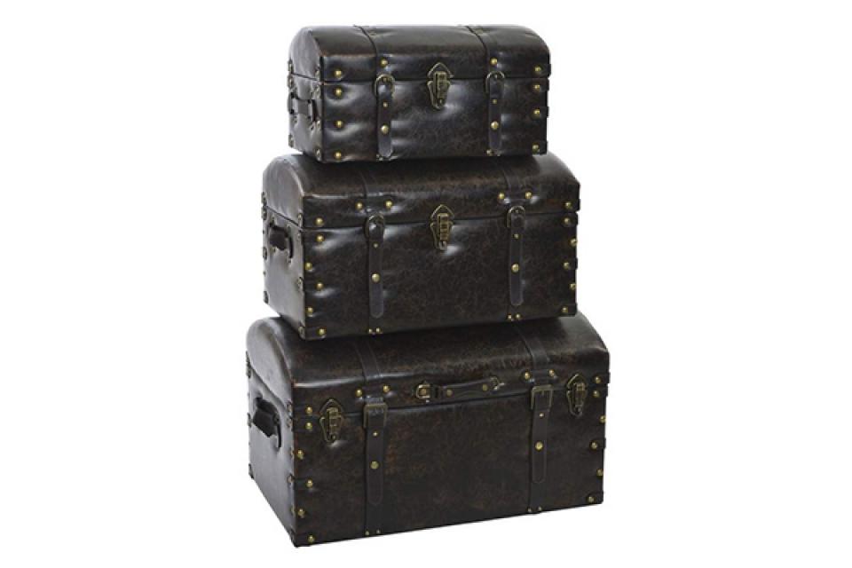 Set od tri  kovčega black 70x43x42