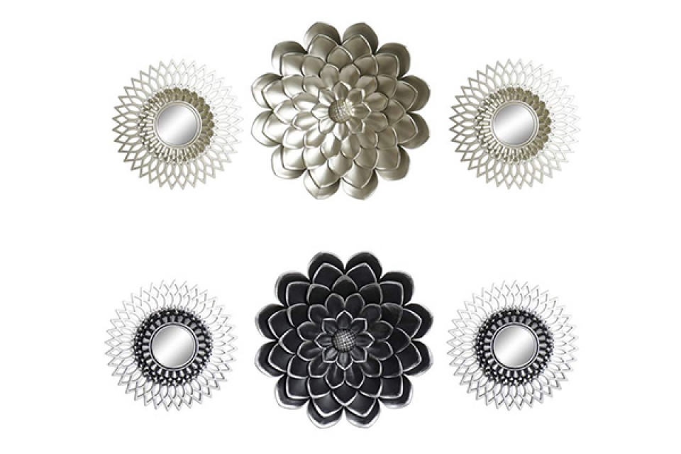 Set ogledala flower / 3 35x2x35 2 modela