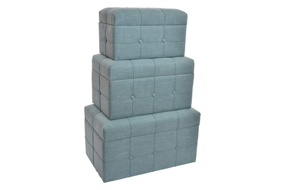 Set plavih taburea / 3 68x41x40